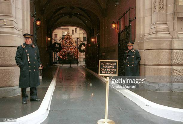The entrance to the Dakota where John Lennon was murdered 20 years earlier December 8 2000 in New York City