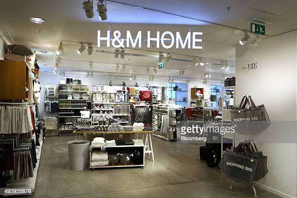 The entrance to the homewares section stands in a HM fashion clothing store operated by Hennes and Mauritz AB in London UK on Friday Oct 16 2015...
