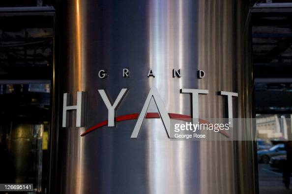 The entrance to the Hyatt Hotel at Grand Central Station is seen on September 10 2011 in New York City The borough of Manhattan was a tense mix of...