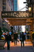 The entrance to the InterContinental Hotel near Lexington Avenue is viewed on October 21 2013 in New York City With a full schedule of conventions...