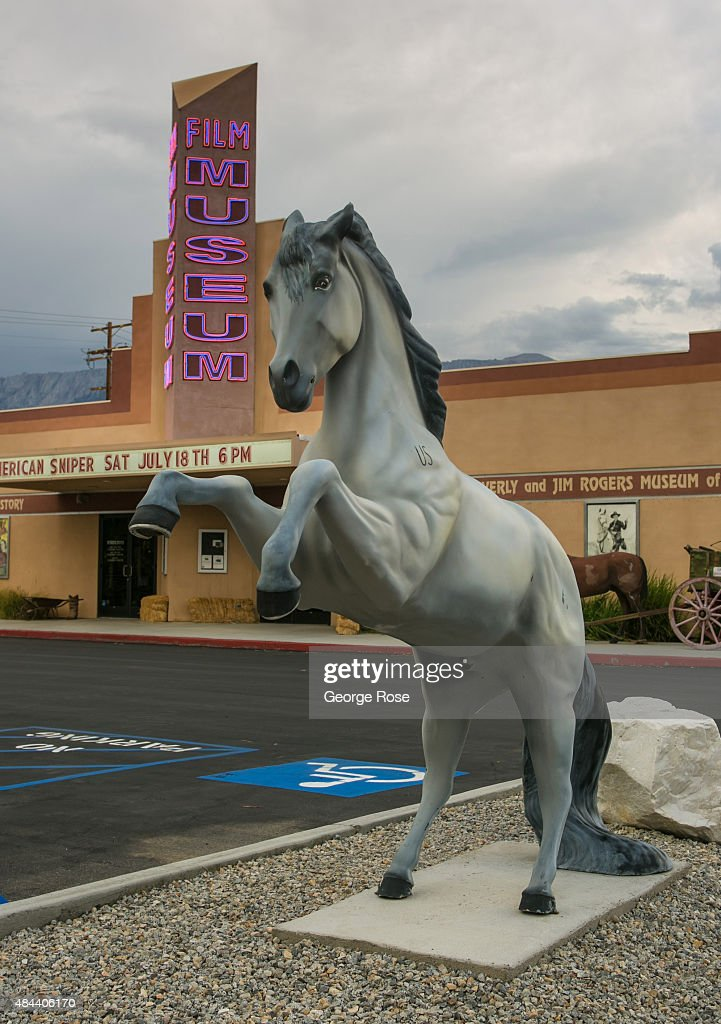 The entrance to the Lone Pine Film History Museum is viewed on July 21 2015 in Lone Pine California The arid Owens Valley located in a rain shadow...