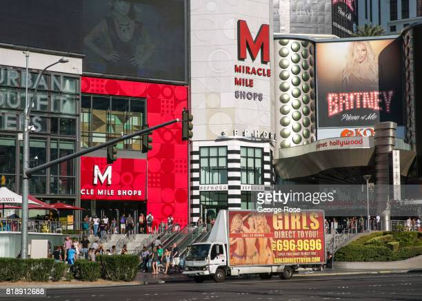 The entrance to the Miracle Mile Shops at Planet Hollywood Hotel Casino located near the corner of Flamingo Road and Las Vegas Blvd is viewed on July...