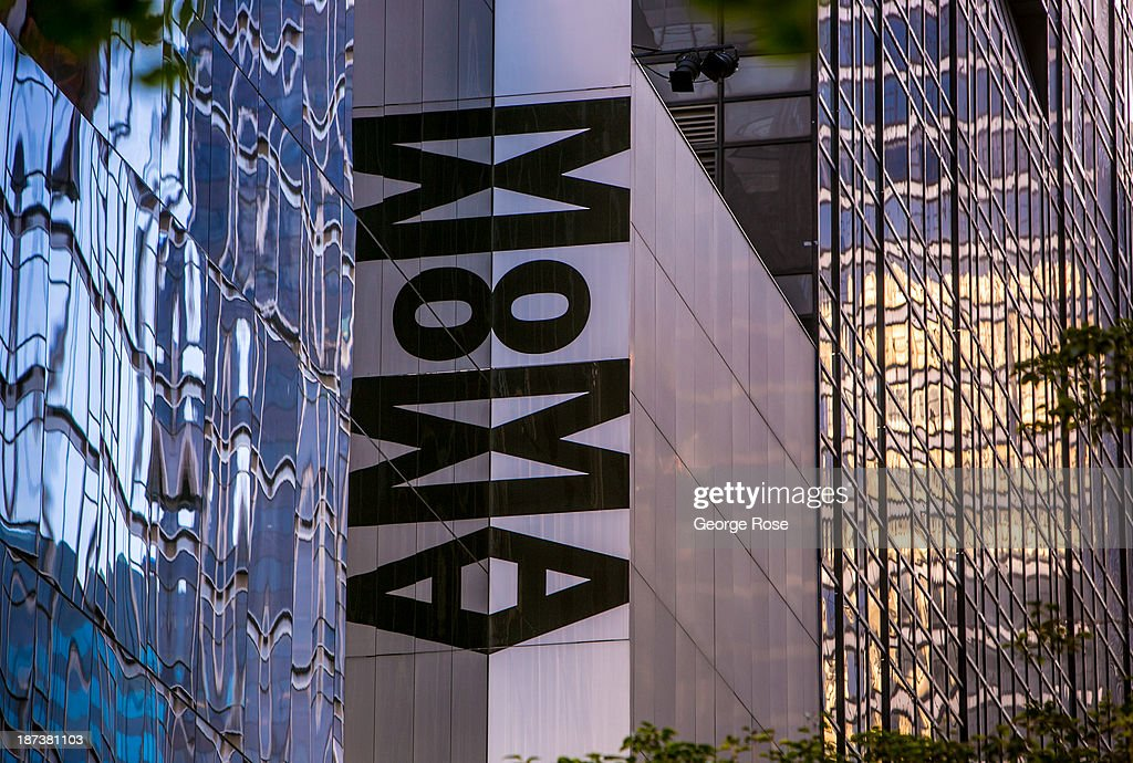 The entrance to the Museum of Modern Art is viewed on October 21 2013 in New York City With a full schedule of conventions and major events taking...