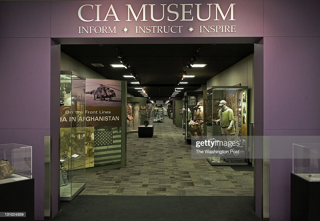 The entrance to the original museum in a hallway of headquarters A new exhibit in its' own space dedicated to the OSS has opened at the CIA in house...