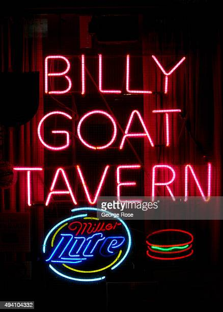 The entrance to the popular Billy Goat Tavern is viewed on October 10 2015 in Chicago Illinois Chicago the third largest city in the United States...
