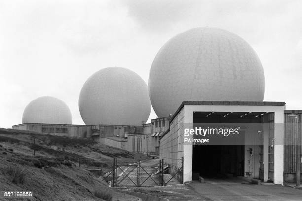 The entrance to the radar domes at RAF Fylingdales Britain's early warning station on the Yorkshire Moors In the event of a nuclear missile attack on...