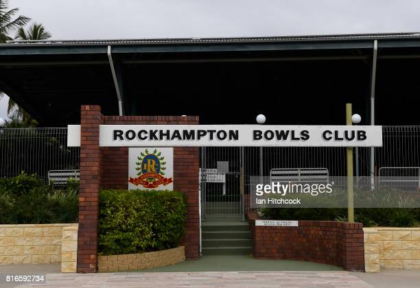 The entrance to the Rockhampton Bowls club is seen on July 09 2017 in Rockhampton Australia