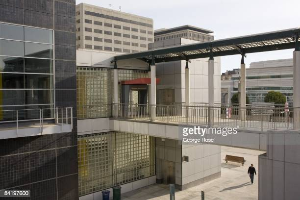 The entrance to the Yerba Buena Center for the Arts is seen in this 2009 San Francisco California city landscape photo