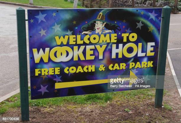The entrance to Wookey Hole near Wells in Somerset Tuesday April 4 2006 Animal cruelty campaigners today criticised a stunt in which two giant...