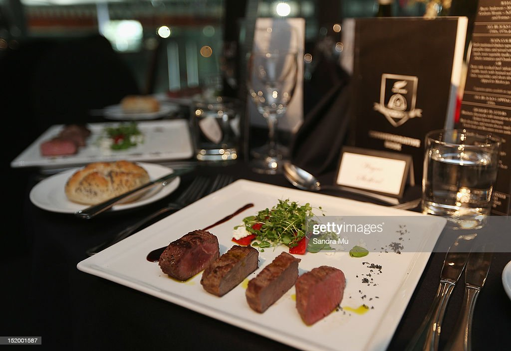 The entree is seen during the New Zealand All Blacks reunion dinner on September 14, 2012 in Dunedin, New Zealand.