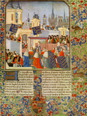 The entry of Queen Isabel into Paris in 1389 from Froissart's Chronicles by Jean Froissart JF chronicler of medieval France c 1337 – c 1405 Isabel of...