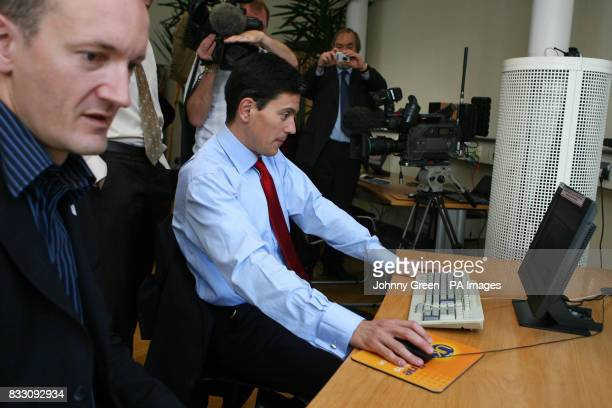 The Environment Secretary David Miliband and the Chief Executive Officer of The Climate Group Steve Howard examine their carbon footprints as they...