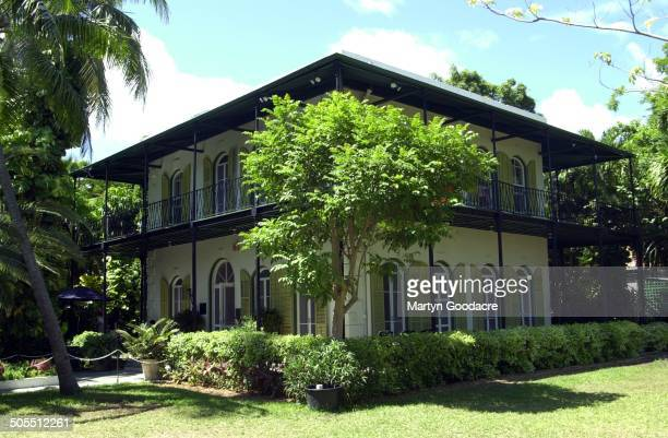 The Ernest Hemingway House now the Ernest Hemingway Home Museum in Key West Florida circa 2010 The house was home to American author Ernest Hemingway...
