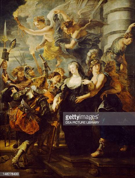 The escape of the Queen from the castle of Blois 16211625 by Peter Paul Rubens Detail from the Stories of Queen Marie de' Medici 24 boards on canvas...