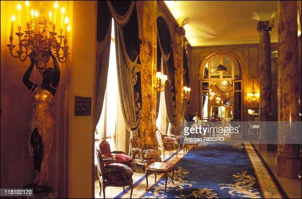 The Espadon the hotel Ritz restaurant one of the temples of Parisian gastronomy in Paris France on October 25 2001 The Ritz's treasure A cellar with...