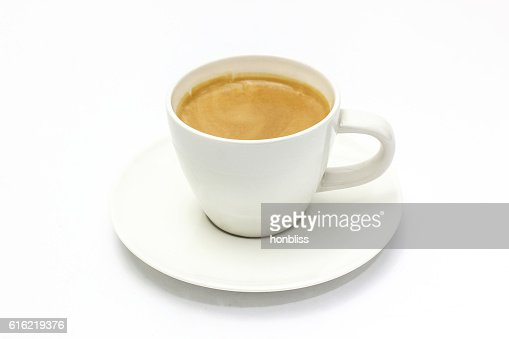 The espresso coffee in white background : Stock Photo