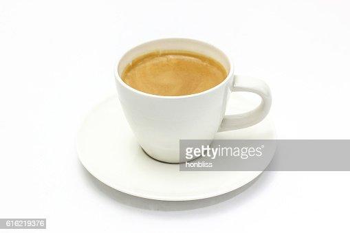 The espresso coffee in white background : Bildbanksbilder