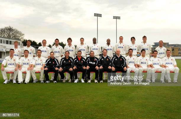 The Essex squad pose Adfam Wheater Jaik Mickleburgh John Maunders Tony Palladino Tom Westley Billy Godleman Maurice Chambers Mervyn Westfield Max...