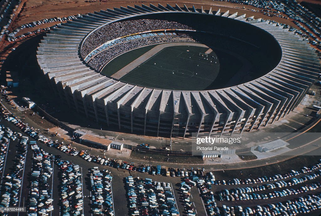 The Estádio Governador Magalhães Pinto known as Mineirao in Belo Horizonte Minas Gerais Brazil circa 1970