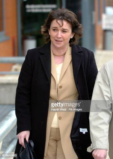 The estranged wife of Detective Garda Noel McMahon Sheenagh McMahon leaves after he gave evidence in the Morris Tribunal in Dublin which is...