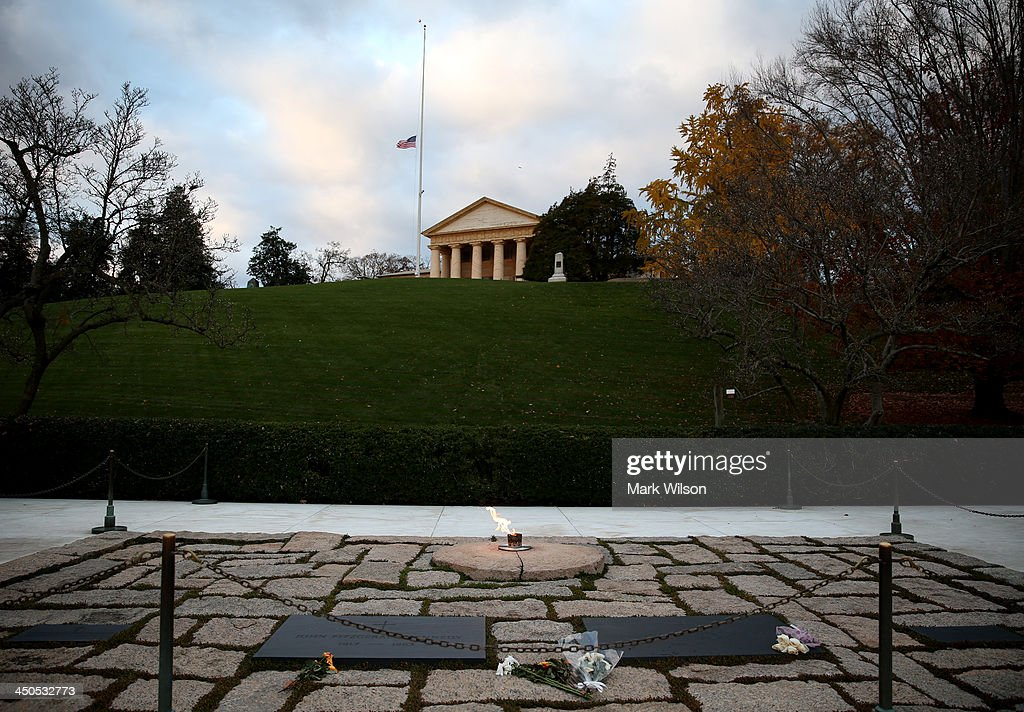 The eternal flame burns at the gravesite of the 35th President of the United States John F. Kennedy, at Arlington National Cemetery, on November 19, 2013, in Arlington, Virginia. Friday November 22, 2013 will mark the 50th anniversary of President Kennedy's assassination during his visit to Dallas, Texas, in 1963.