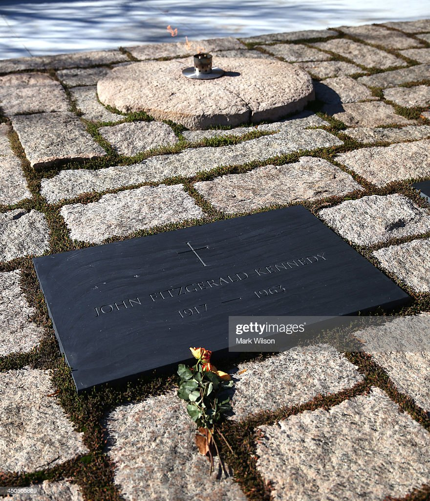 The eternal flame burns at the gravesite of the 35th President of the United States John F. Kennedy, at Arlington Cemetery on November 19, 2013 in Arlington, Virginia. The 50th anniversary of President Kennedy's assassination is Friday November 22, 2013.