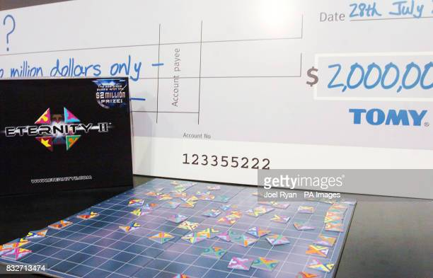 The Eternity II game which has a $2 million prize on offer to the first person to complete the 209 piece puzzle at the ToyFair at London's Excel...