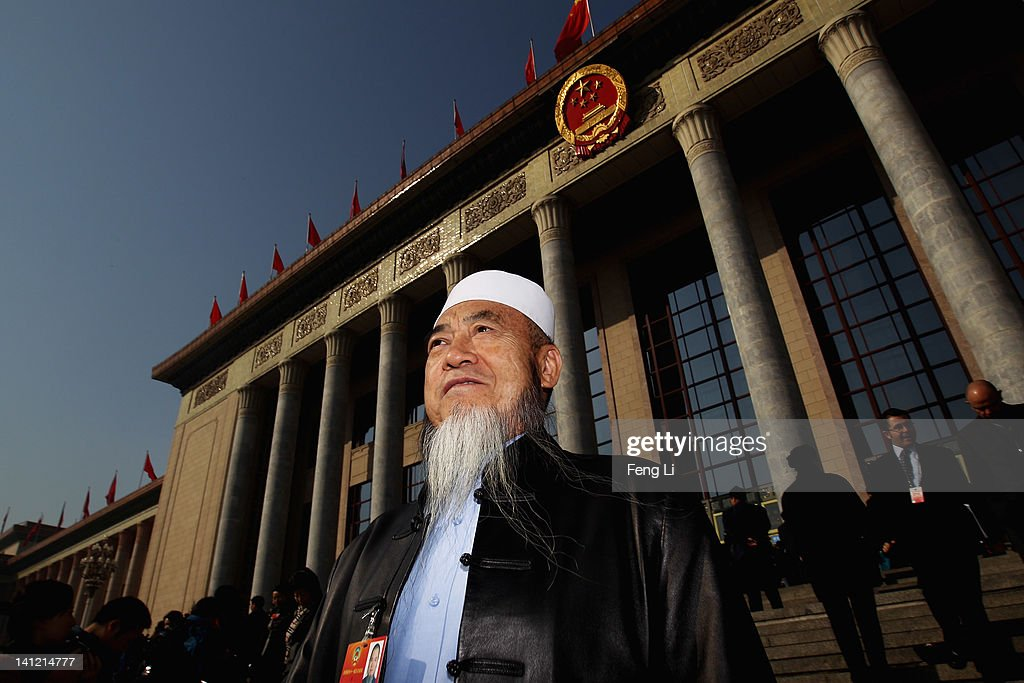 The ethnic minority delegate leaves the closing ceremony of the Chinese People's Political Consultative Conference (CPPCC) at the Great Hall of the People on March 13, 2012 in Beijing, China. Known as 'liang hui,' or 'two organizations', it consists of meetings of China's legislature, the National People's Congress (NPC), and its advisory auxiliary, the Chinese People's Political Consultative Conference (CPPCC).