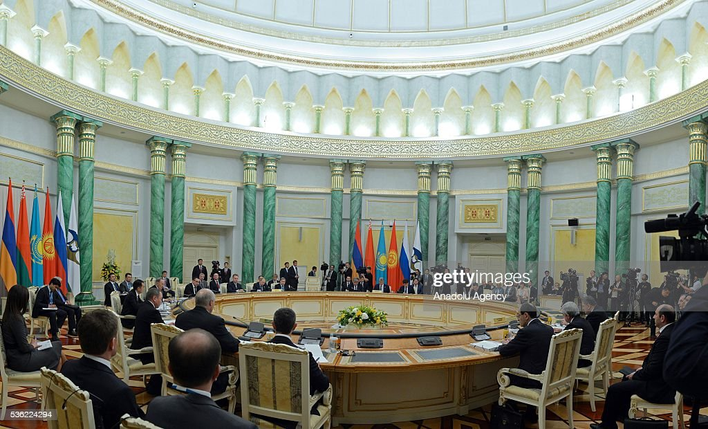 The Eurasian Economic Union (EEU) meeting of the heads of states is held in Astana, Kazakhstan on May 31, 2016.
