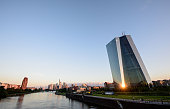 The European Central Bank stands at sunrise on July 06 2016 in Frankfurt Germany The city of Frankfurt is seeking to attract financial jobs away from...