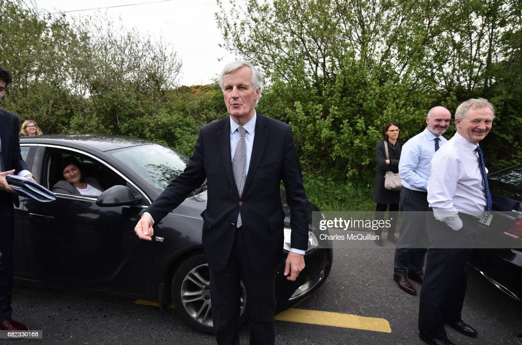 EU Brexit Negotiator Visits The Border Between Northern Ireland And Ireland : News Photo