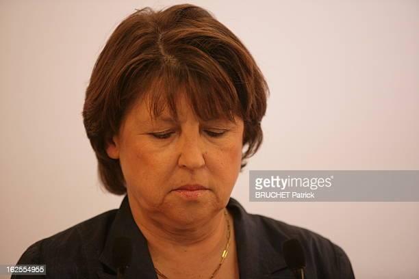 Results At The Ps Paris 7 juin 2009 Siège du Parti socialiste rue de Solférino Soirée électorale maussade pour Martine AUBRY qui la mine défaite...