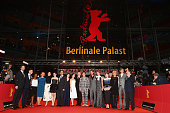 The European Shooting Stars 2016 pose with politicians at the 'Alone in Berlin' premiere during the 66th Berlinale International Film Festival Berlin...