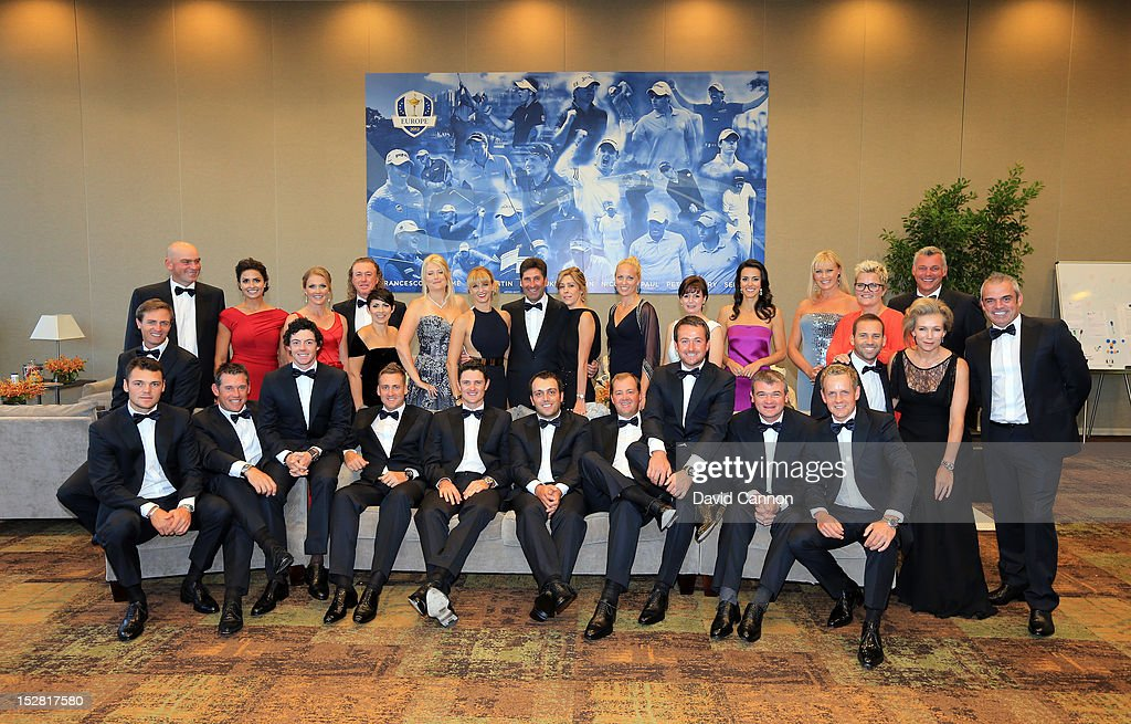 dinner theatre rosemont il. the european team players pose for a photograph with their wives and partners prior to dinner theatre rosemont il e