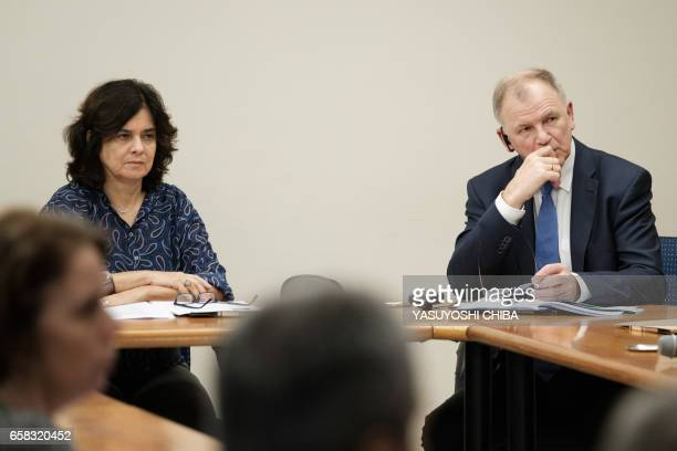 The European Union Commissioner for Health and Food Safety Vytenis Andriukaitis and the president of the Oswaldo Cruz Foundation Nisia Trindade Lima...