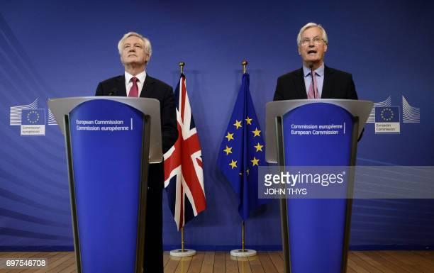 The European Union's chief negotiator Michel Barnier Michel Barnier speaks as British Secretary of State for Exiting the European Union David Davis...