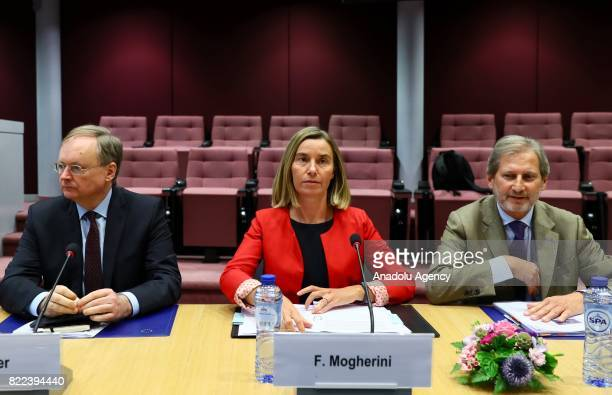 The European Unions High Representative for Foreign Affairs and Security Policy and VicePresident of the European Commission Federica Mogherini and...