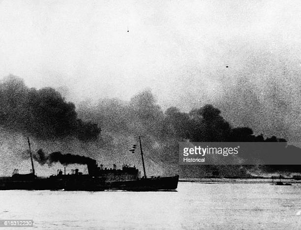 The evacuation of Dunkirk France in June 1940