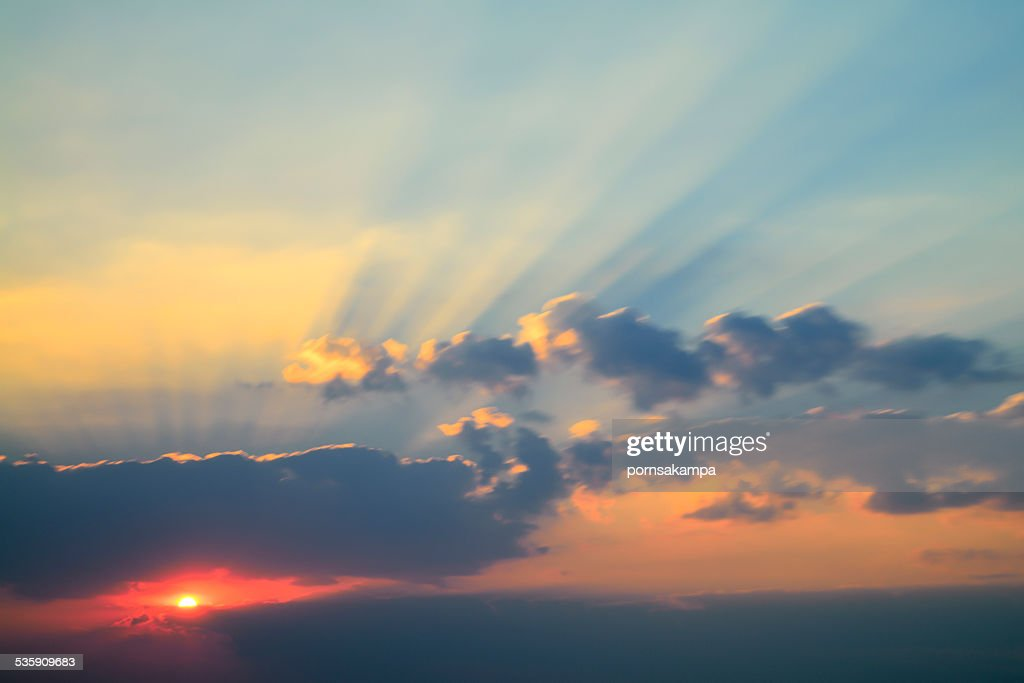 The evening sky : Stock Photo