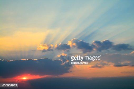 O céu à noite : Foto de stock