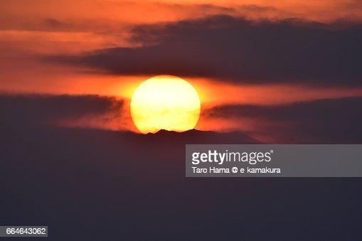 The evening sun on the top of Mt. Fuji : ストックフォト