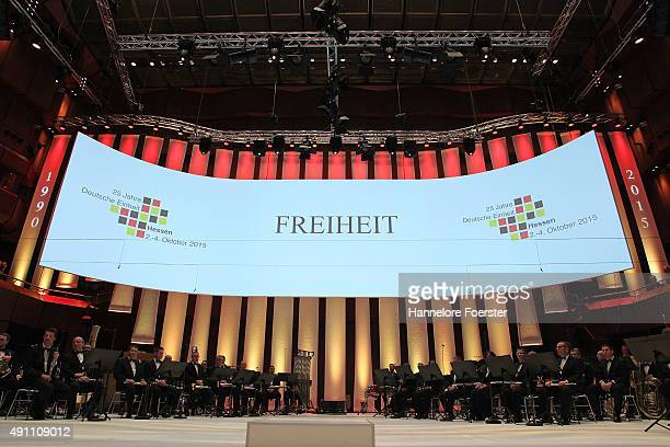 The events to celebrate the 25th anniversary of German reunification at the Alte Oper on October 3 2015 in Frankfurt Germany On October 3 following...