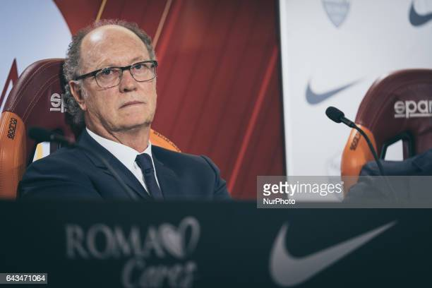The ex player fo As Rome Paulo Roberto Falcao presents his documentary quotTell me who's Falcaoquot at the As Roma center in Trigoria Rome Italy on...