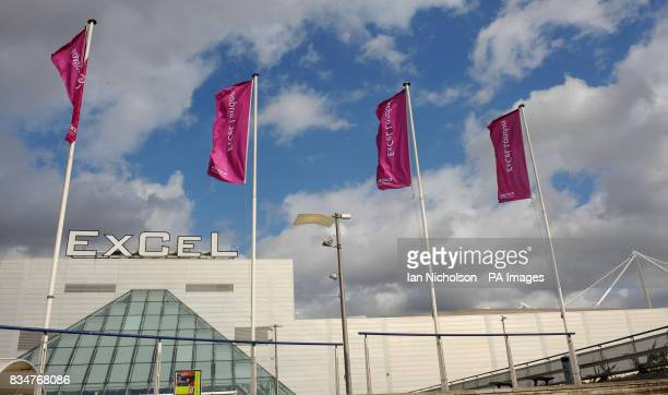 The ExCel Centre in London's Docklands which will be host to judo boxing taekwondo weightlifting wrestling and table tennis in the 2012 London...