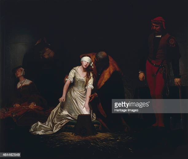 'The Execution of Lady Jane Grey' 1834 Scene at the Tower of London showing the impending execution of Lady Jane Grey in 1554