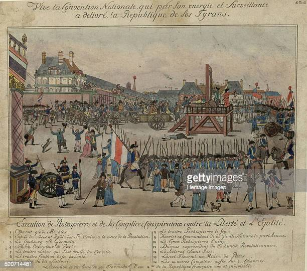 The execution of Robespierre and his supporters on 28 July 1794 Found in the collection of Bibliothèque Nationale de France