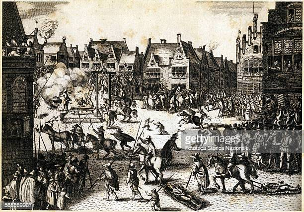 The execution of the conspirators of 1605 and the repression of James I Stuart against all the English Catholics who organized the Conspiracy of the...