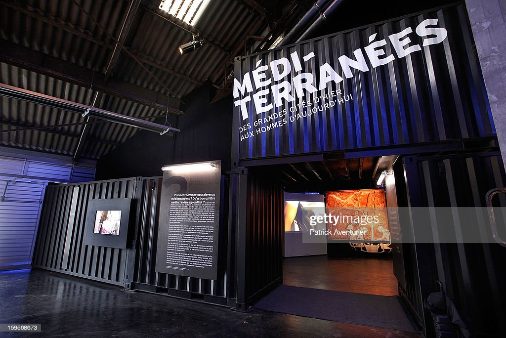 The exhibition 'Mediterrannes' at The J1 Hangar on January 13, 2013 in Marseille, France.In 2013 Marseille Provence is The European Capital of Culture,this week marks the start of a year long programme of cultural and artistic events being held across the region.