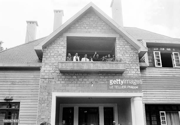The Exile Of Dalai Lama In India En Inde à Mussoorie le 20 avril 1959 lors de sa fuite de Chine vers l'Inde le DALAILAMA alias Tenzin GYATSO à sa...