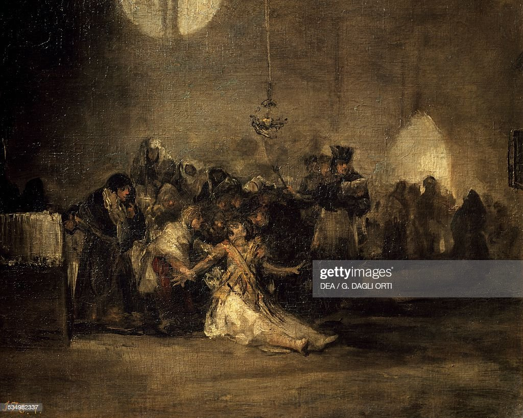 The exorcism by Francisco de Goya mural painting from the Quinta del Sordo Spain 19th century Madrid Museo Del Prado